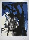 Antoni CLAVE : Lithographie originale signée et numérotée : Composition bleu, noir
