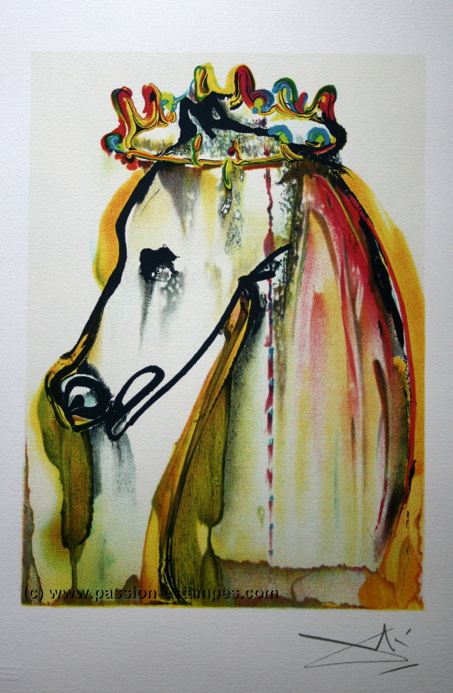 Salvador DALI : El Caballo de Calígula : Litografía Los caballos de Dalí