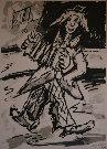 Henry D'ANTY : Lithographie originale signée et numérotée : Le Clown