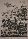 Henry D'ANTY : Lithographie originale signée et numérotée : La Calèche