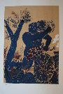 Alexandre (Alecos) FASSIANOS : Lithographie originale signée et numérotée : Cycliste bleu