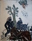 Alexandre (Alecos) FASSIANOS : Gravure originale signée et numérotée : Europe bucolique