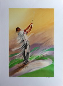 Maurice Fillonneau Lithograph - Swing 1