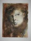 Leonor FINI : Lithographie originale signée et numérotée : Le regard sombre