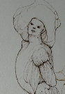 Leonor FINI : Gravure originale signée et numérotée : Le miroir