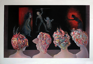 Leonor Fini Lithograph - Spectacle