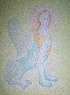 Leonor FINI : Lithographie originale signée et numérotée : Le sphinx jaune
