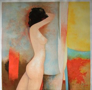 Claude Gaveau Lithograph - The awakening