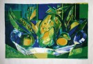 Camille Hilaire : Lithographie originale : Still life with the watermelon
