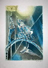 Camille HILAIRE : Original Lithograph : The tightrope walkers
