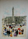 Urbain HUCHET : Original Lithograph : Place Vendome