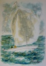 Urbain HUCHET : Original Lithograph : The Sailing Ship