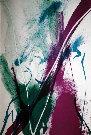 Paul JENKINS : Lithographie originale signée et numérotée : Seeing Voice Welsh Heart 1
