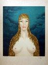 Felix LABISSE : Lithographie originale : Christophaïs