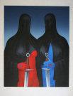 Felix LABISSE : Lithographie originale : La Sainte Hermanda