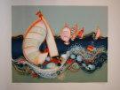 Frederic Menguy : Litografia originale : Le Regate