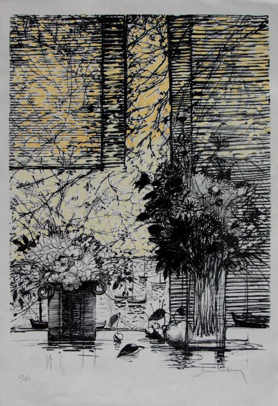 Michel-Henry : Original Lithograph : Light and shade