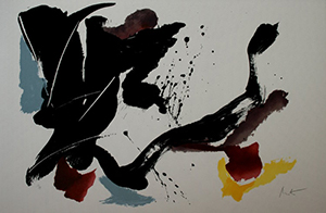 Lithographie originale Jean Miotte - Composition 1