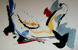 Lithographie originale Jean Miotte - Composition 5