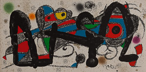 Joan Miro Original Lithograph - Escultor
