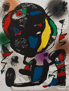 Joan Miro Original Lithograph - Original Lithograph V (1981)