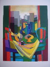 Marcel Mouly : Lithographie originale : San Francisco (1981)