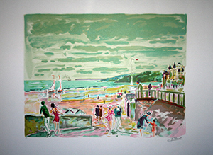 Jean Claude Picot lithograph - Cabourg