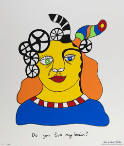 Sérigraphie Niki de Saint Phalle - Do you like my brain ?