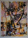 Maurice SARTHOU : Lithographie originale : Dans les pins