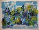 Maurice SARTHOU : Lithographie originale : Mistral