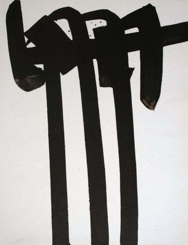 Pierre soulages lithographie originale de 1970 for Affiche pierre soulages