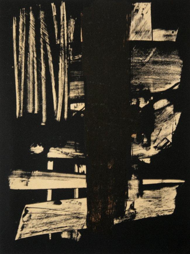 Pierre soulages lithographie originale de 1959 for Affiche pierre soulages