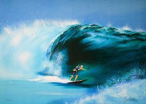 Victor Spahn Lithograph - The wave