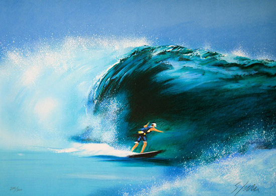 Victor Spahn : Original Lithograph : The wave