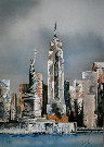 Victor Spahn : Lithographie originale : New York
