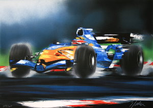 Lithographie Victor Spahn - Renault F1
