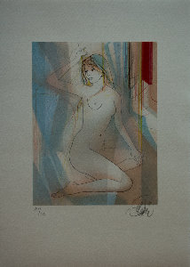 Jean-Baptiste Valadié Lithograph - Seduction