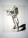 Claude Weisbuch : Gravure originale : Etude pour un violoniste