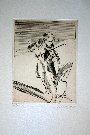 Claude Weisbuch : Gravure originale : Scherzo