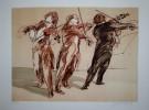 Claude Weisbuch : Lithographie originale : Trois violonistes