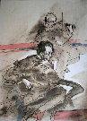 Claude Weisbuch : Lithographie originale : En duo