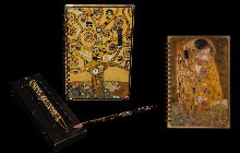 Gustav Klimt notebooks and pens