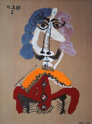 Pablo PICASSO - Céramique - Courtisan