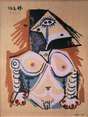 Pablo PICASSO - Céramique - Femme nue