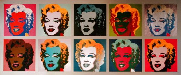 Andy WARHOL : 10 Marilyns