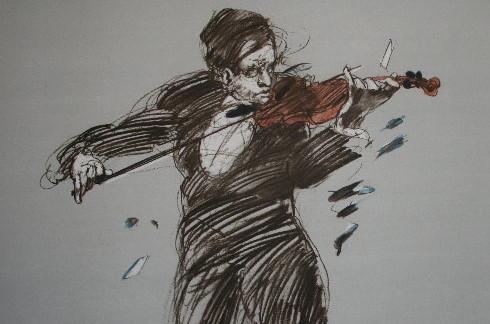 Claude WEISBUCH : Lithographie originale : Brisé
