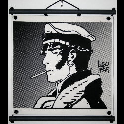 Hugo Pratt, Corto Maltese : Serigraph on linen canvas, Allons-y