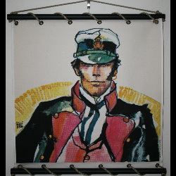 Hugo Pratt, Corto Maltese : Serigraph on linen canvas, La ballade