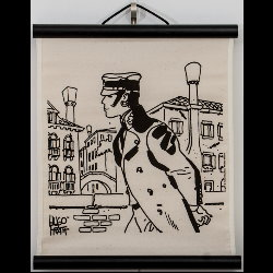 Hugo Pratt, Corto Maltese : Serigraph on linen canvas, Cannaregio