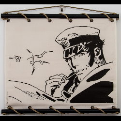 Hugo Pratt, Corto Maltese : Serigraph on linen canvas, Conseils